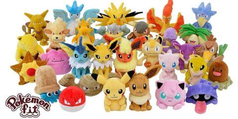 super popular bcac2 99dfb Ecco Pokémon Fit, la serie di peluche con TUTTI i primi 151 ...