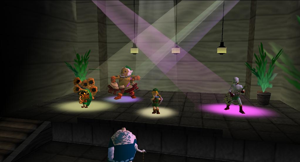 Link fa musica grazie a diversi strumenti musicali