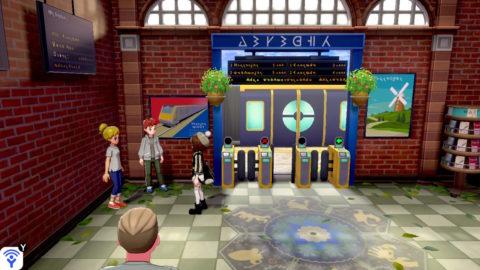 I bambini che danno Pikachu e Eevee Gigamax