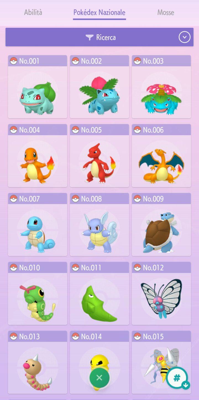 Pokémon HOME dex nazionale