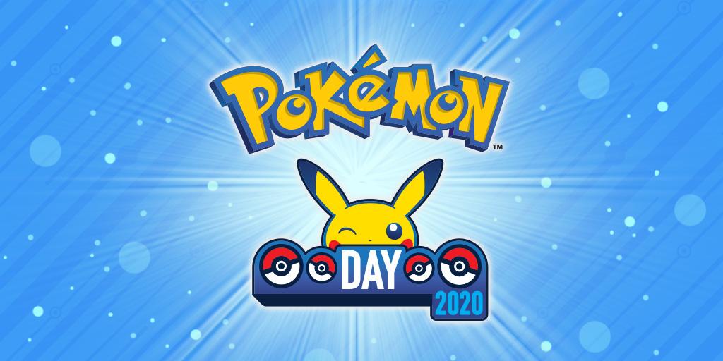Pokémon Day 2020 logo fondo effetti