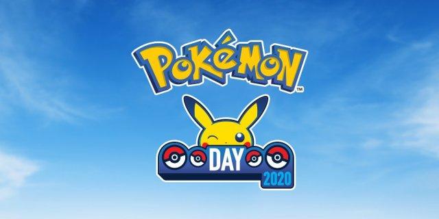 Pokémon Day 2020 logo fondo azzurro