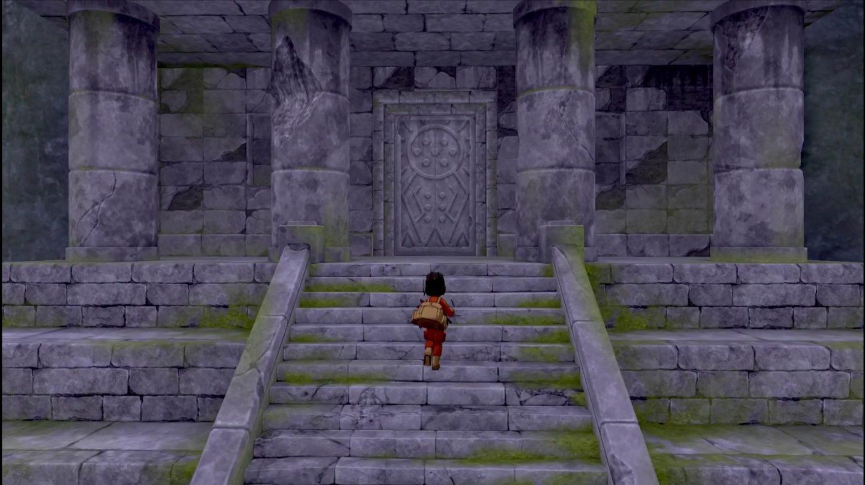 Isola solitaria Armatura tempio antico