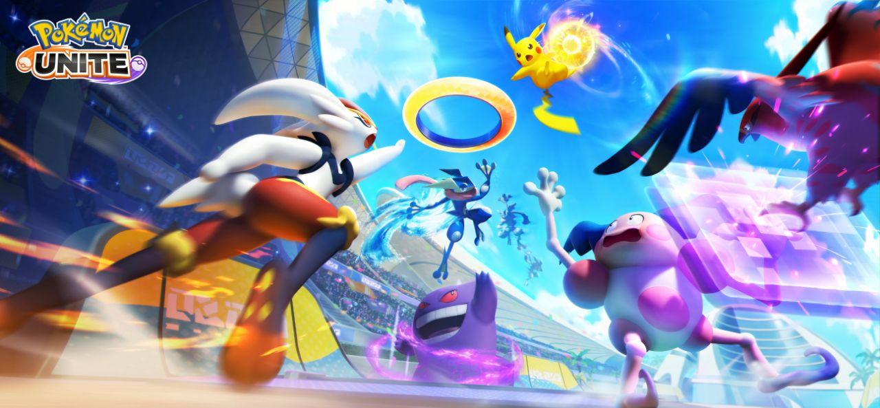 Pokémon UNITE splash page