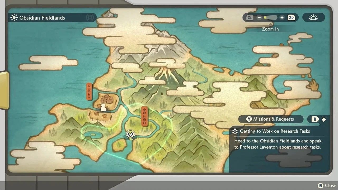 Hisui mappa open world